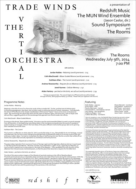 Vertical Orchestra 2014 Programme