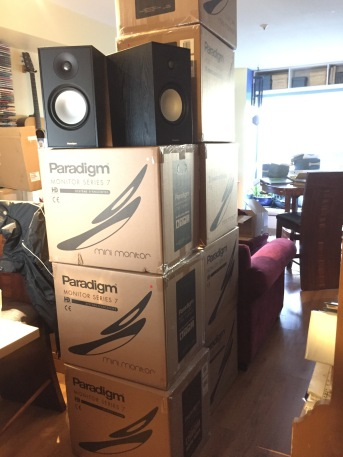 A big package arrives from Paradigm.