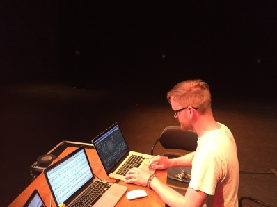 Brian Topp working on some software for the Array